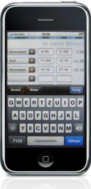 Mobile Arbeitszeiterfassung iPhone