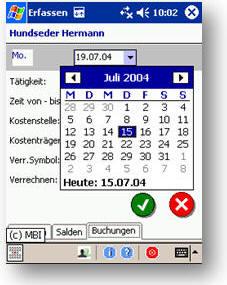Leistungserfassung Auftragserfassung mobil