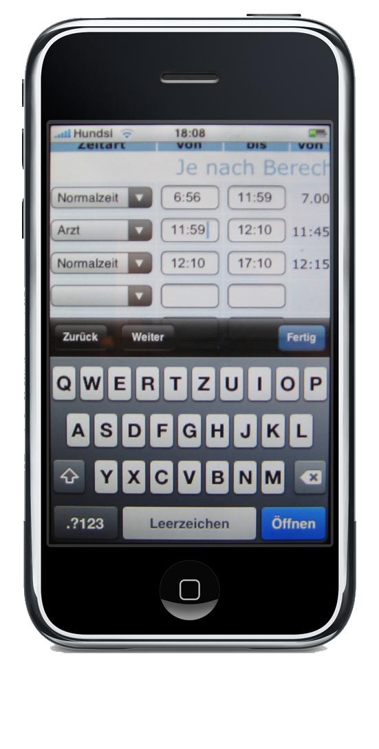 iPhone-buchen
