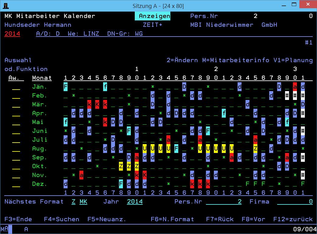 Mitarbeiterkalender ZEIT+.Classic